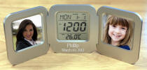 Personalized Desktop Clock with Photo Frames