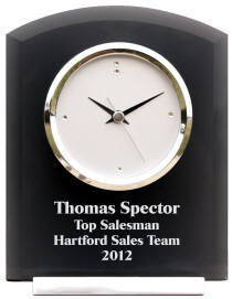 Personalized Smoked Glass Desk Clock