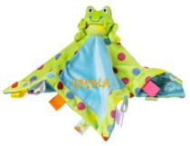 Personalized Taggies Spotted Frog Character Blankie