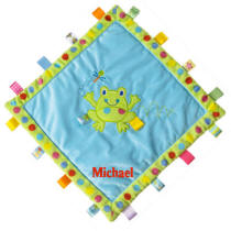 Personalized Taggies Spotted Frog Cozy Blanket