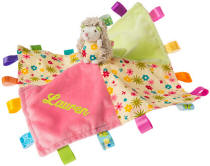 Personalized Taggies Petals Hedgehog Character Blankie