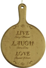 Personalized Live Laugh Love Circle Board