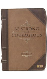 Strong & Corageous Bible Cover