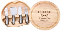 Personalized Round Cheese Board