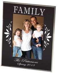 Family Black Newton Photo Frame