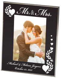 Mr. and Mrs. Black Newton Photo Frame