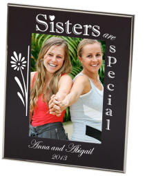 Sisters Black Newton Photo Frame