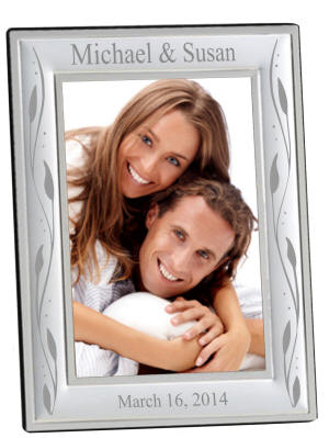 Personalized Silver Corfu Frame