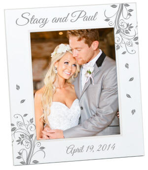 Personalized 4x6  Blanca Photo Frame