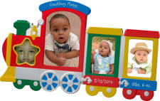 Multi Color Engraved Baby Train Frame