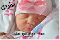Personalized Baby Canvas Portrait