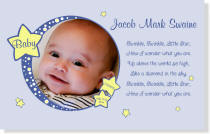 Personalized Blue Twinkle Baby Canvas Portrait