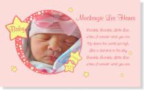 Personalized Pink Twinkle Baby Canvas Portrait