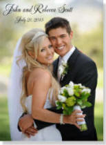 Personalized Wedding Photo Canvas