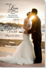 Personalized Wedding Canvas with Verse