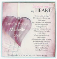 Personalized Glass Heart Memorial Gift