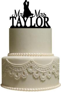 Acrylic Couple Cake Topper