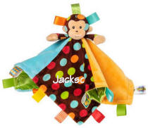 TAGGGIES Dazzle Dots Monkey Character Blanket