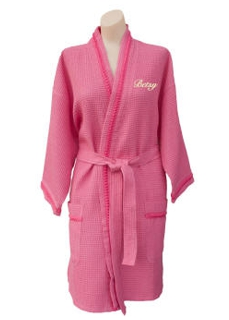 Braided Trim Spa Robe