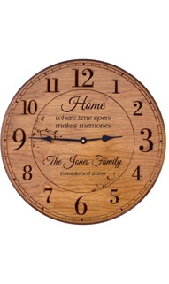 Personalized 	17 in. Wall Clock for Home