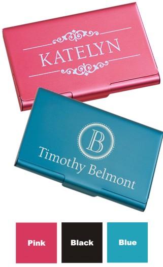 Business card holder engraved colourmoves