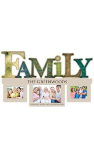 Personalized Family Word Photo Frame