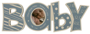 Blue Baby Word Photo Frame