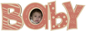 Pink Baby Word Photo Frame