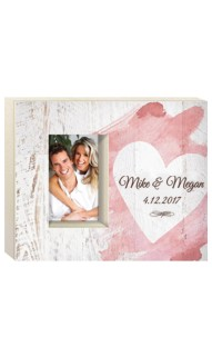 Personalized Watercolor Heart Frame
