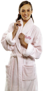 Personalized Ultra Soft Tahoe Microfleece Robe