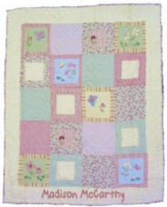 Personalized Flutterbye Baby Quilt