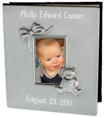 Pewter Finish Baby Photo Album