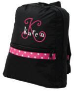 Small Children's Black Polka Dot Backpack