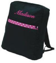 Large Children's Black/Hot Pink Backpack