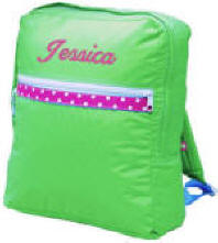 Large Children's Lime Pink Backpack