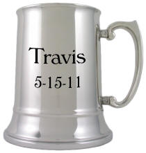 Personalized Classic Stainless Steel Double Wall Tankard