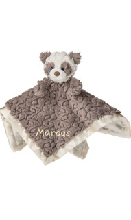 Personalized Putty Nursery Panda Character Blanket