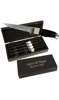Personalized Steak Knife Set with Storage Box