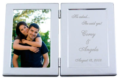 3x5 Chrome HIndged He asked, She Said Yes Frame