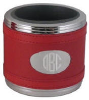 Red Leatherette Can Cooler Coozie