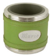 Lime Leatherette Can Cooler Coozie
