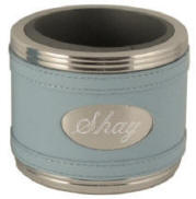 Light Blue Leatherette Can Cooler Coozie