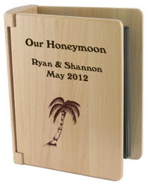 Personalized Maple Photo Album