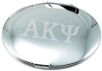 Engraved Mirror Finish Round Compact