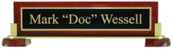 Personalized 10 in. Executive Desk Nameplate