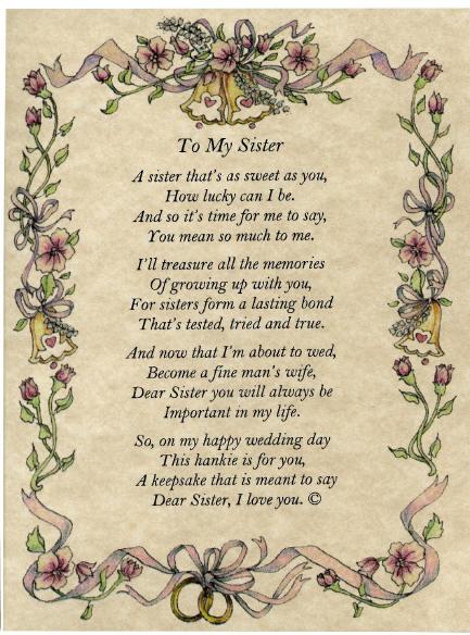 poems for sister. love you sister poems. i love