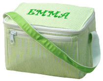 Lime Seersucker Lunch Box