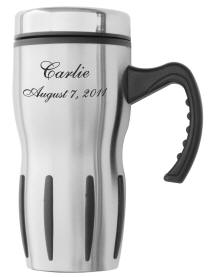 Stainless Steel Multi Grip Travel Coffee Mug