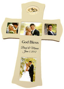 Personalized Ivory Photo Cross