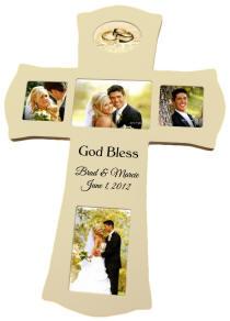 Personalized Ivory Photo Cross